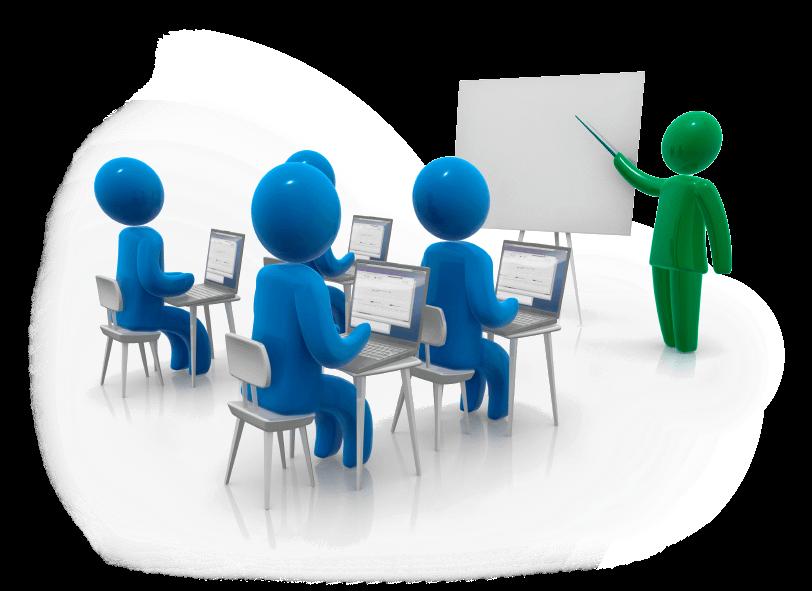 In questa immagine viene rappresentata una classe di studenti intentia seguire una lezione. A simboleggiare la necessità di una formazione continua e di uno studio ininterrotto