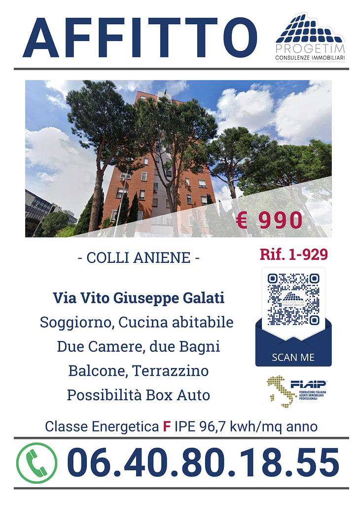 Affitto Via Vito Giuseppe Galati Colli Aniene